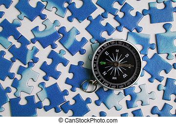 puzzle, compas