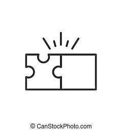 Puzzle compatible icon in flat style. Jigsaw agreement vector illustration on white isolated background. Cooperation solution business concept.