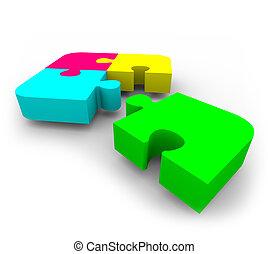 puzzle, -, completare