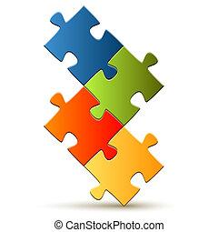Puzzle - composed four parts
