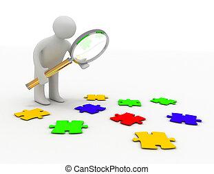 puzzle concept 3d