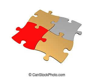 puzzle, concept, 3d