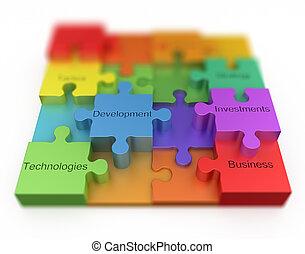 puzzle, concept, business