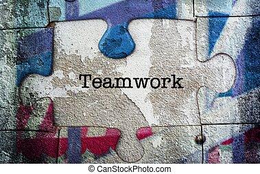 puzzle, concept, collaboration