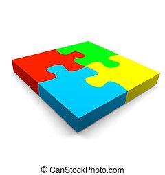 puzzle, concept, coopération