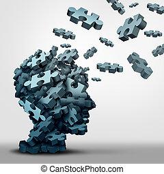 puzzle, concept, démence