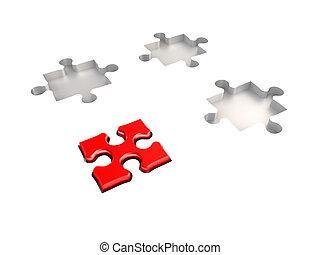 puzzle, concept, direction