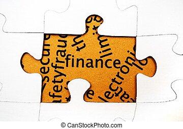 puzzle, concept, finance