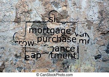 puzzle, concept, hypothèque