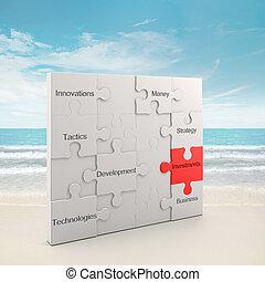 puzzle, concept, investissements