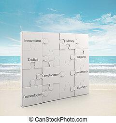 puzzle, concept, présentation