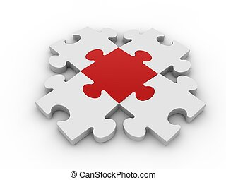 Puzzle concept  - Puzzle concept