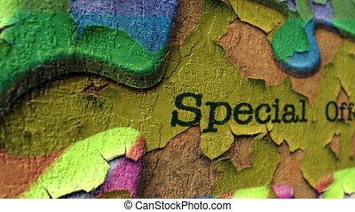 puzzle, concept, spécial, offre
