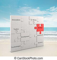 puzzle, concept, stratégie