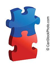 puzzle, concept, travailler ensemble