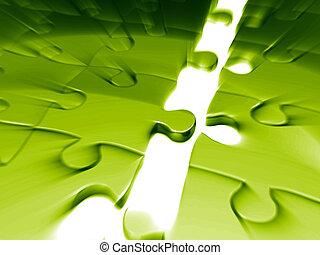 puzzle, concetto, affari, accoppiamento