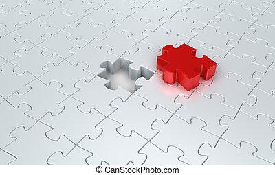 Puzzle Connection - Jigsaw puzzle concept.