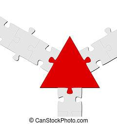Puzzle Connection / Teamwork symbolism