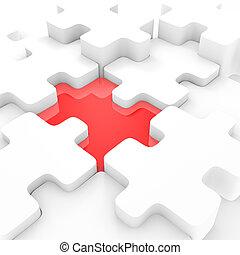 puzzle, connettere