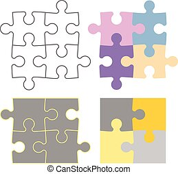 Puzzle constructor - Puzzle pieces in different...