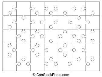 puzzle, contour, fond