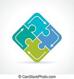 Puzzle conundrum icon