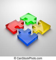Puzzle Cooperation Concept
