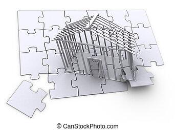 puzzle, costruzione