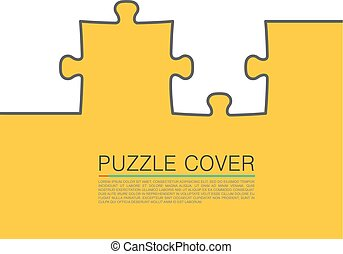 Puzzle cover art. Vector Illustration