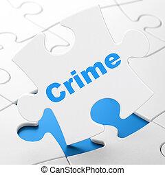 puzzle, crime, concept:, fond, intimité