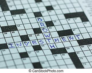 puzzle, croissance, investissement
