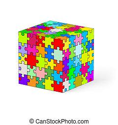 puzzle, cube.