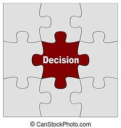 puzzle decision - puzzle pieces on white background