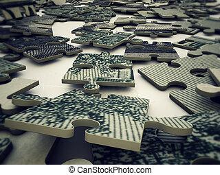 puzzle, dollar