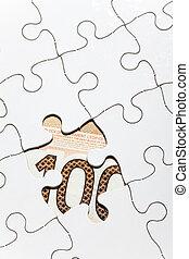 puzzle, dollaro, canadese
