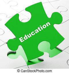 puzzle, education, concept:, fond