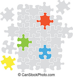 puzzle, ensemble, -