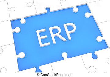 Puzzle ERP concept