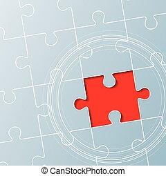 puzzle, fait, pieces., fond