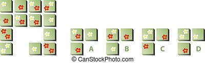 puzzle, fiori, mente