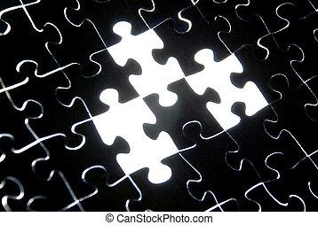 puzzle, fond, résumé