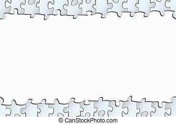 puzzle, fondo, striscia