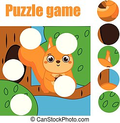 Puzzle for toddlers. Match pieces and complete the picture....