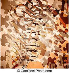 puzzle, forme, vecteur, conception, résumé