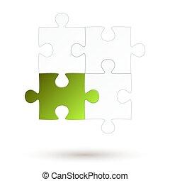 Puzzle - four parts - Green Option