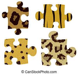 puzzle, fourrure, animal