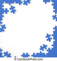 puzzle frame - puzzle pieces forming a frame for your own...