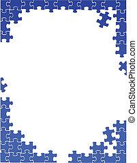 puzzle, frontière, gabarit