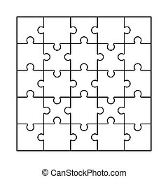 puzzle, gabarit, vector., vide