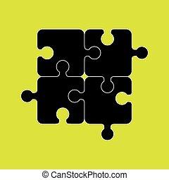Puzzle game graphic icon